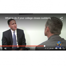 Jonathan Vogel Discusses What College Students Should Do If Their School Suddenly Closes